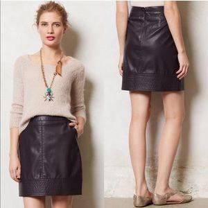 Anthropologie Vanessa Virginia Leather Mini Skirt